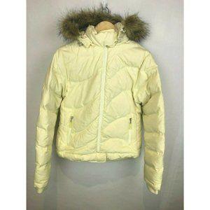 PrAna Down Winter Jacket Womens Medium M Cream